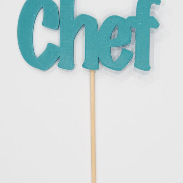 """Schriftzug """"Chef"""""""