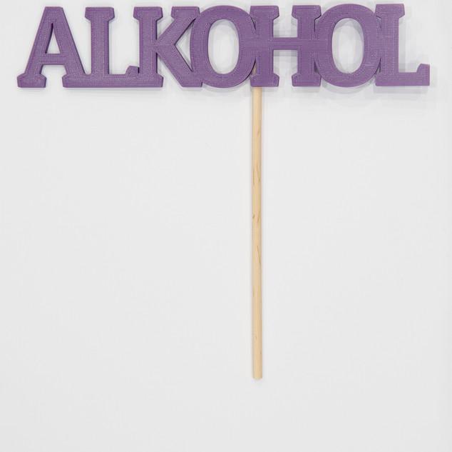 """Schriftzug """"Alkohol"""""""