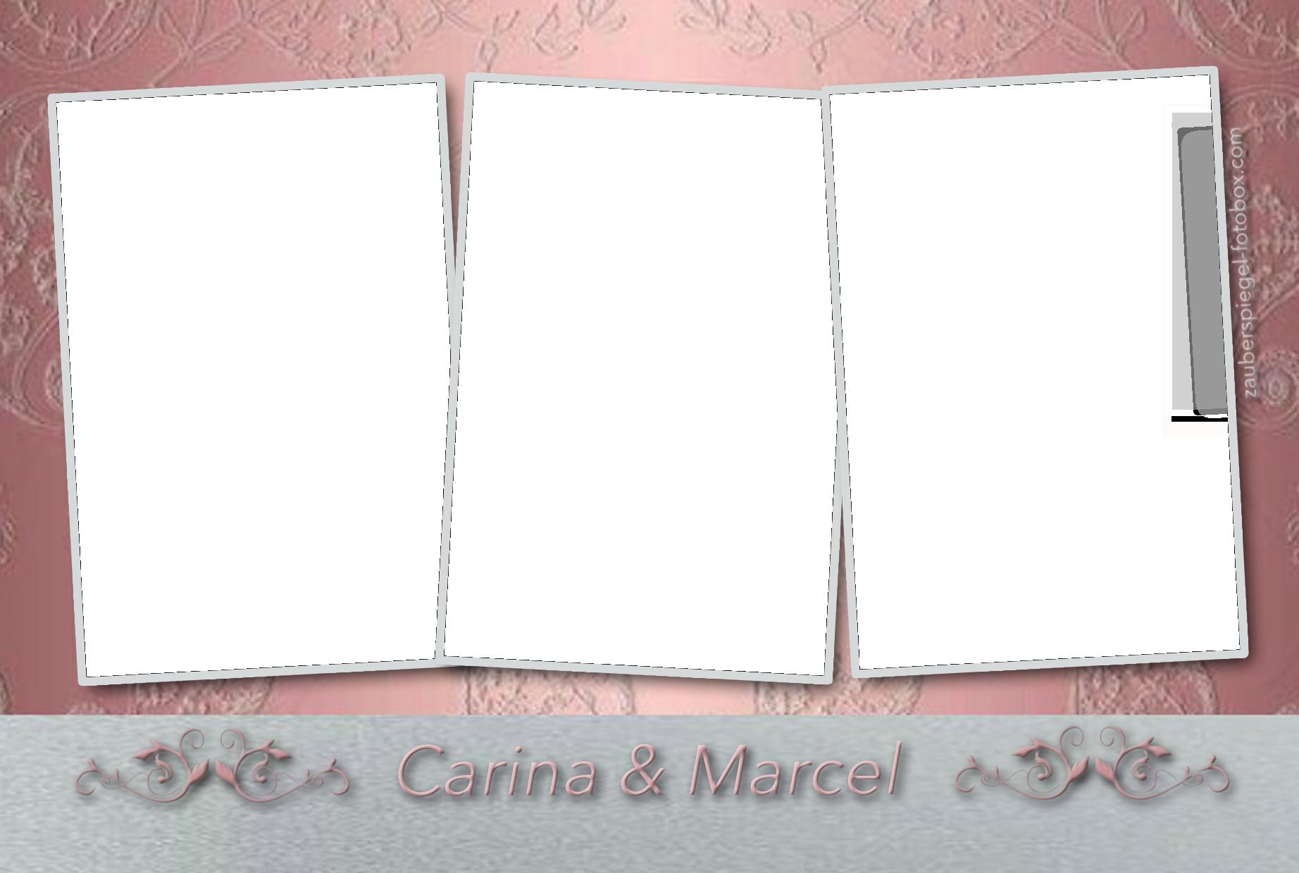 Hochzeit rosa-silber