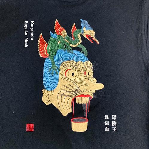 """藤木友禅型製作所×仏画作家 """"梨鳳"""" コラボ Tシャツ「羅陵王舞楽面」"""