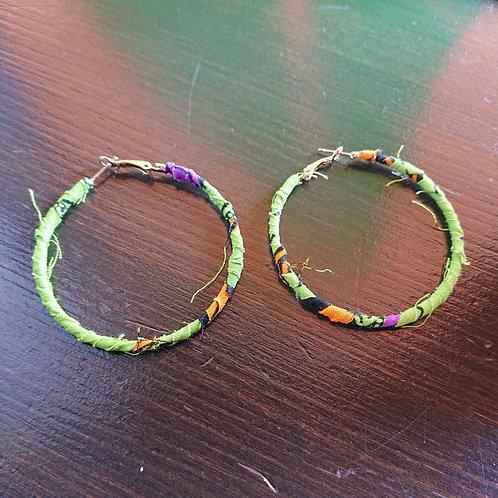 hoop pierced earring -B- / Sista-k