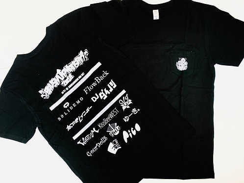 BRUSH UP KANSAI 2018 ポケットTシャツ ブラック