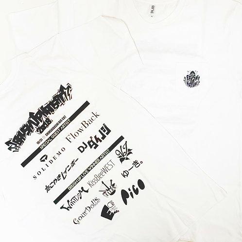 BRUSH UP KANSAI 2018 ポケットTシャツ ホワイト