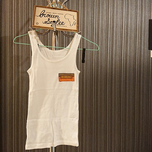 ladies tank top white free size A