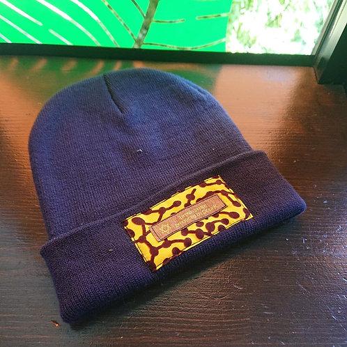 tag knit cap / navy