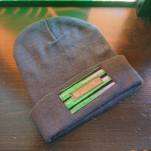 tag knit cap / glay