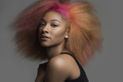 Colored  Afro
