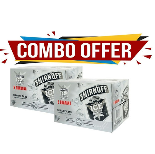 Smirnoff Guarana 12pk 7% cans 2 for $50