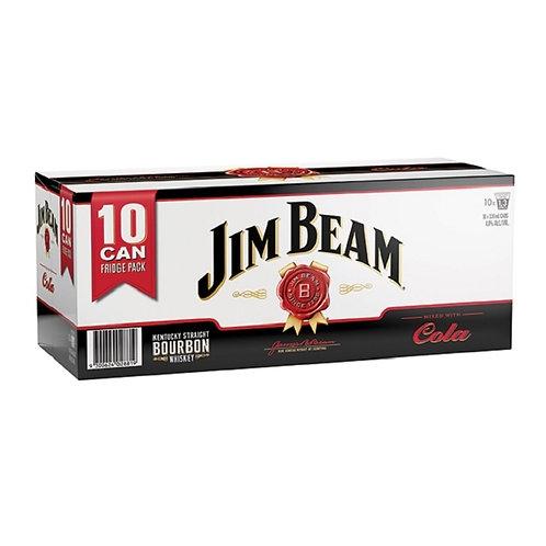 Jim Beam Cola 4.8% 10x330ml Cn