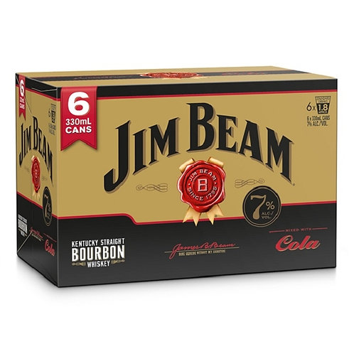 Jim Beam Gold Cola 330ml 6pk