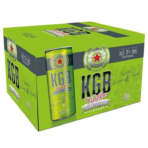 KGB 7% Lime & Soda 250ml CN 12