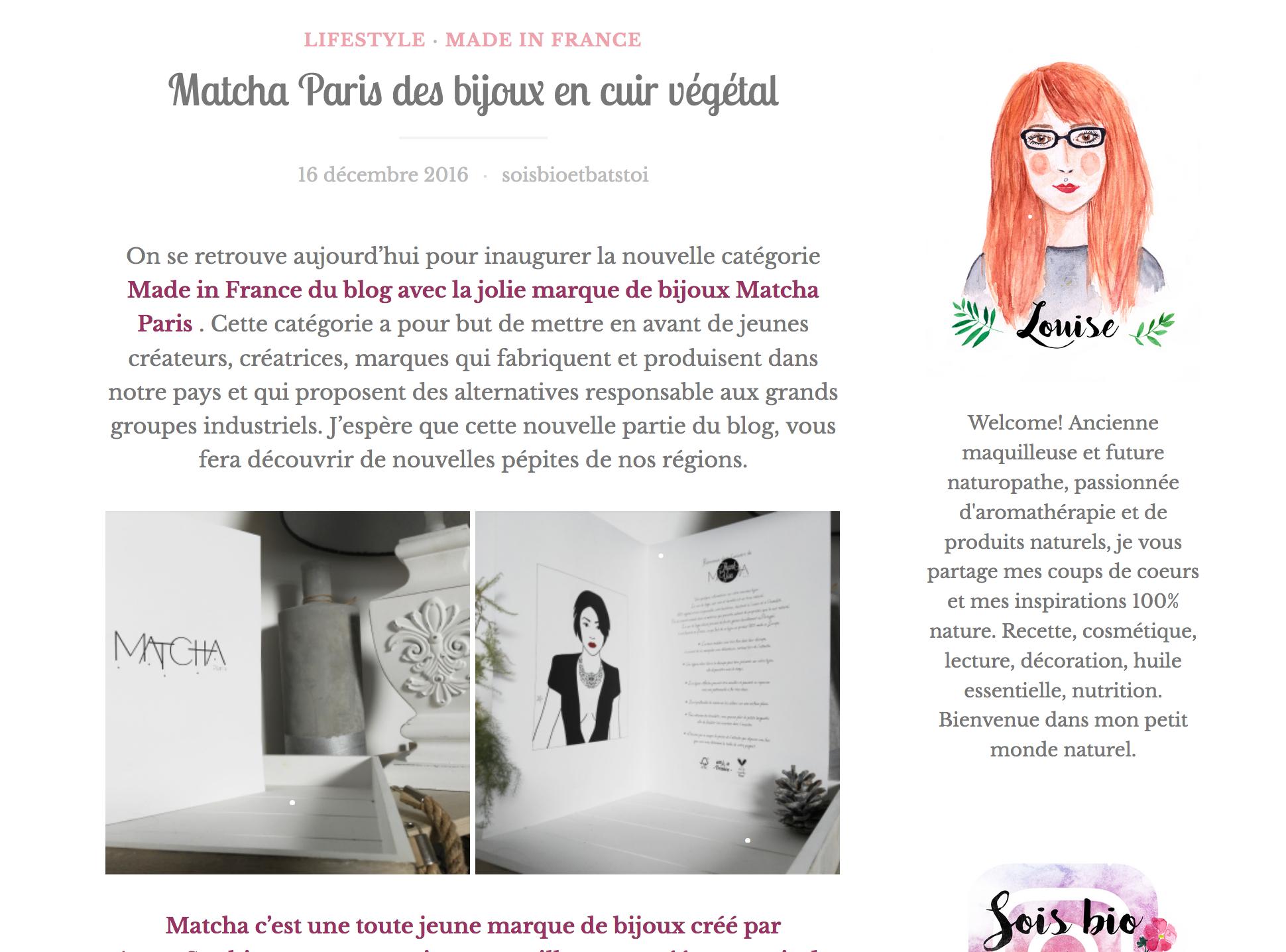 Article Matcha