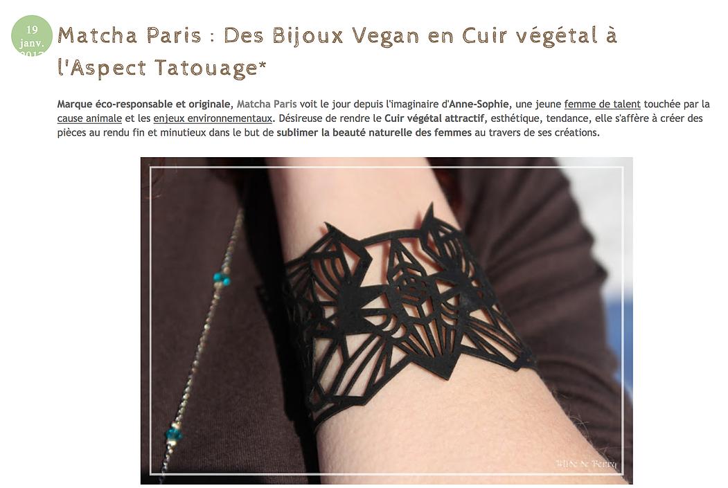 Article Matcha Paris