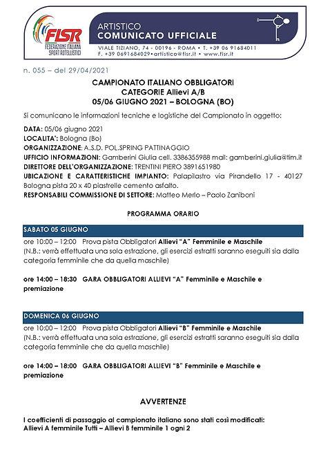 CU 055 - 2021 Campionato Italiano Obblig