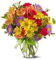 Mixed Garden Vase