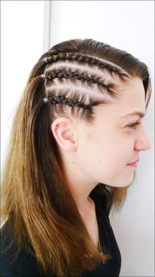 Side head braids no/ ext
