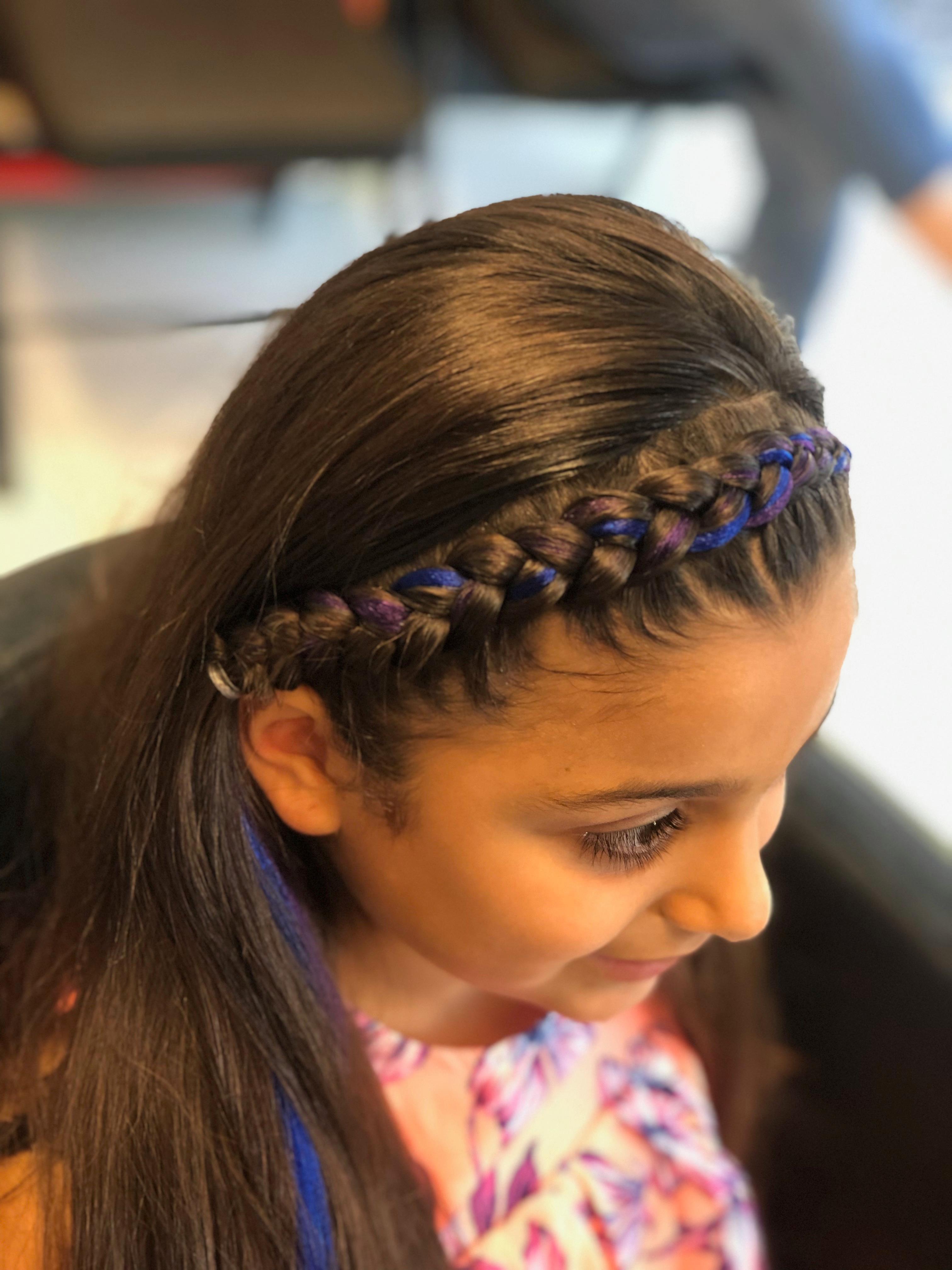 Crown braids w/ ext