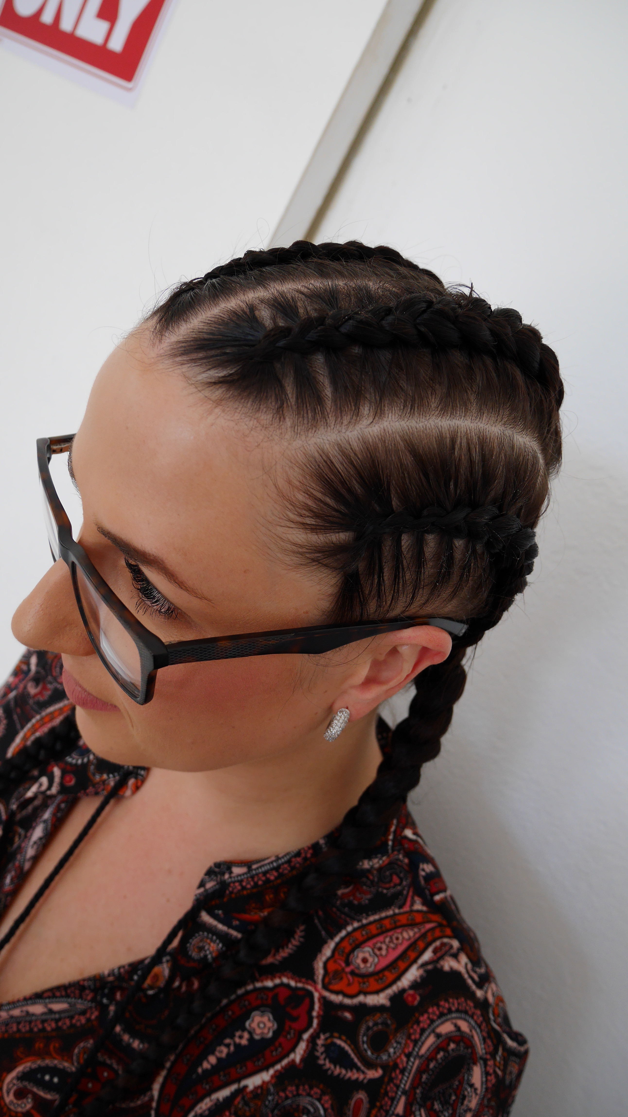 4 large braids- no ext