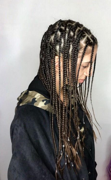 Full head plaits/box braids no ext
