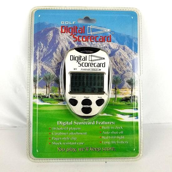 Photon Golf digitální scorecard