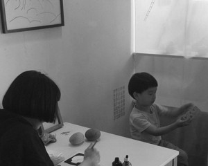蔵前 カワウソ 似顔絵喫茶