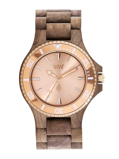 Date MB Nut Rough Rose Gold