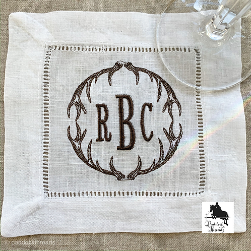 Antler Monogram Cocktail Napkins