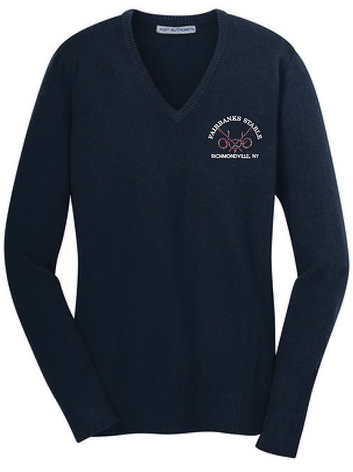 Fairbanks Stable Ladies V-Neck Sweater