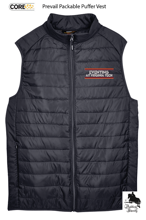 Eventing at Virginia Tech Men's  Puffy Logo Vest