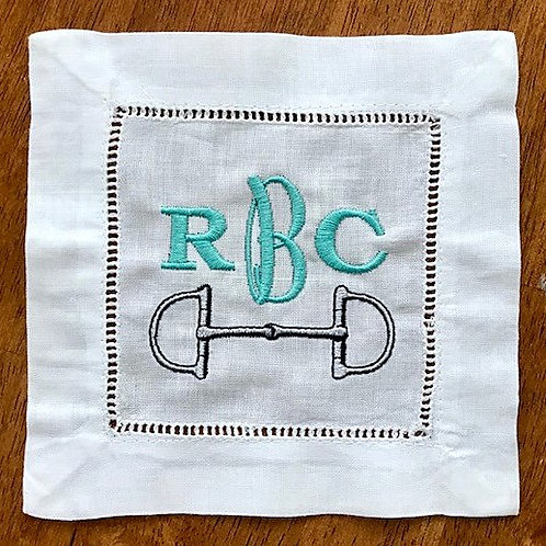 Dee Ring Bit with Monogram Cocktail Napkins
