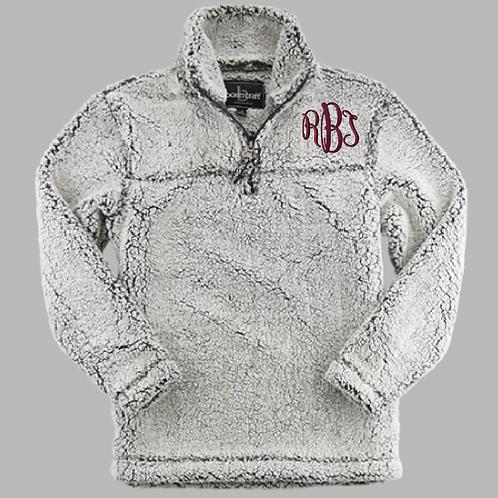 Monogrammed Sherpa Quarter-zip Pullover
