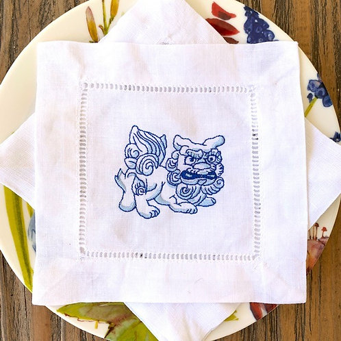 Foo Lion Cocktail Napkins