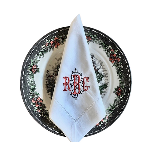 Filigree Monogram Dinner Napkin