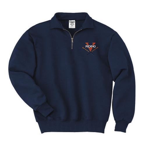 Virginia Riding Team 1/4-Zip Sweatshirt with Cadet Collar