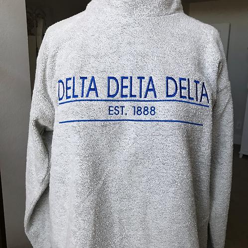 Delta Delta Delta Woolly Threads Natural Pullover