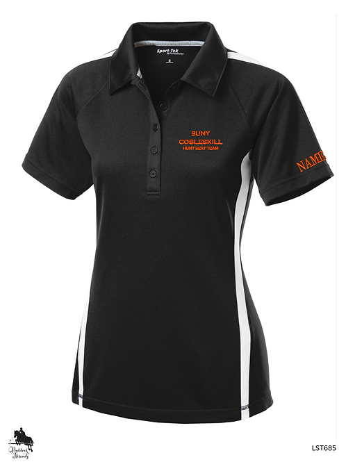 SUNY Cobleskill Hunt Seat team Ladies Colorblock Polo