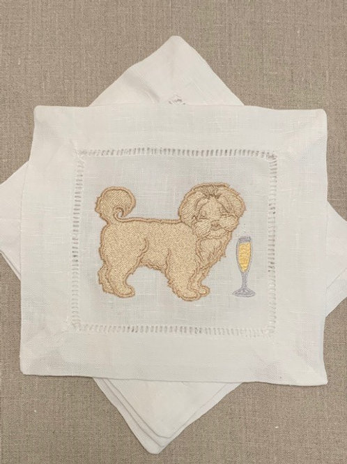 Maltipoo Cocktail Napkins