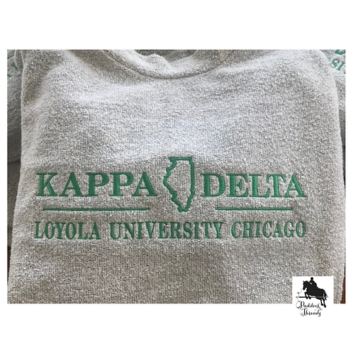 Kappa Delta Loyola University Chicago Woolly Threads Natural Pullover