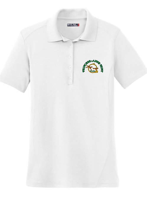 Ladies White Princess Anne Hunt Logo Polo