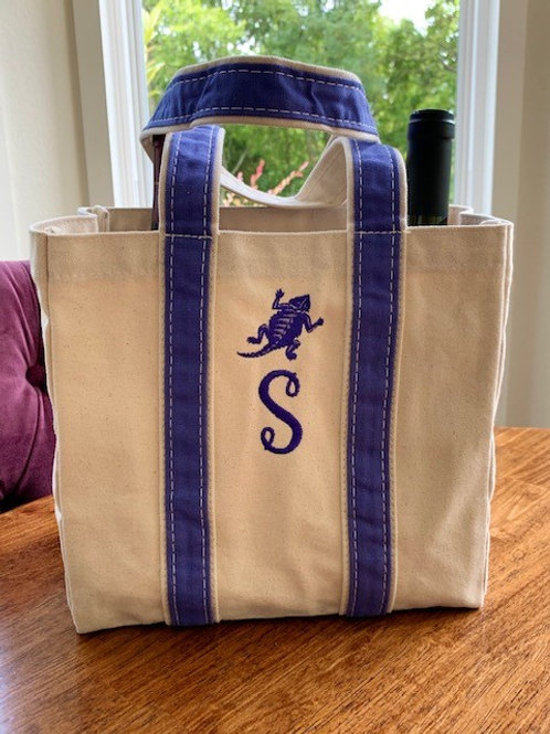 Horned Frog Wine Tote
