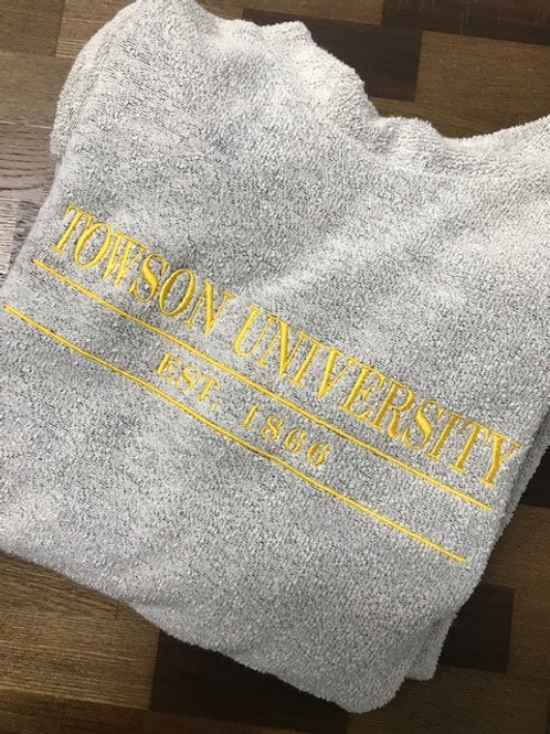 Towson University Woolly Threads Natural Pullover