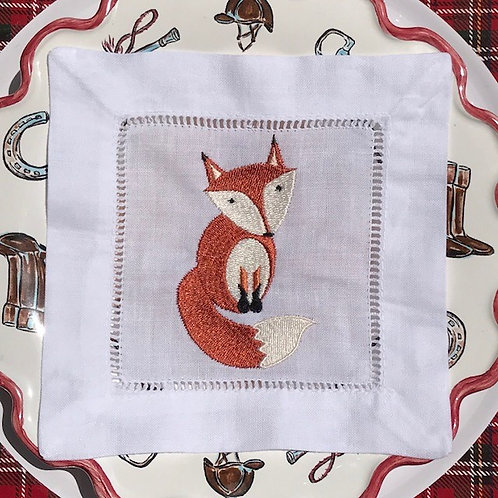 Fanciful Fox Cocktail Napkins