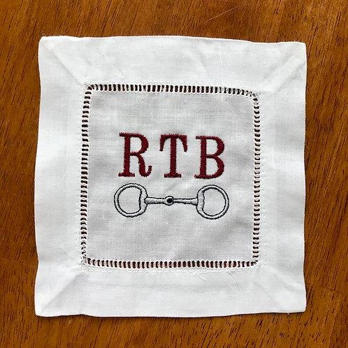 Bit Monogram Cocktail Napkins