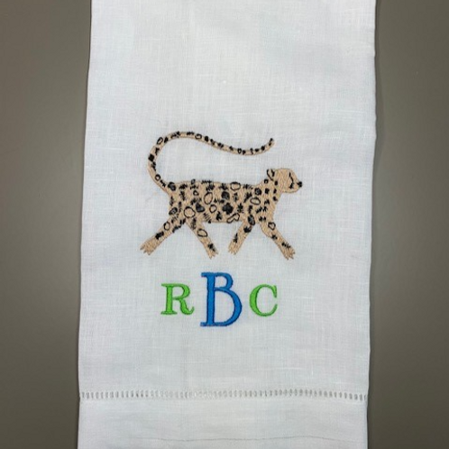 Cheetah Monogram Towel