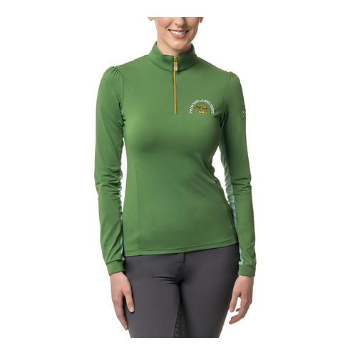 Kastel Demark Shirred Shoulder Ladies Sun Shirt - Grasshopper