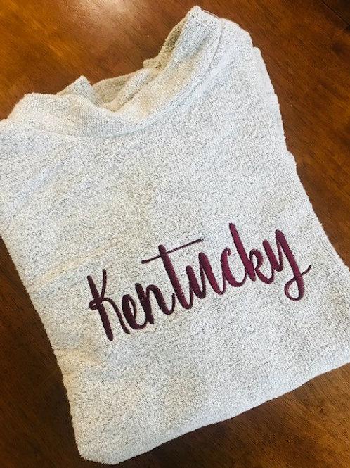 Script Kentucky Woolly Threads Natural Pullover