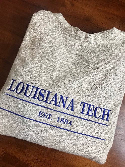 Louisiana Tech Woolly Threads Natural Pullover