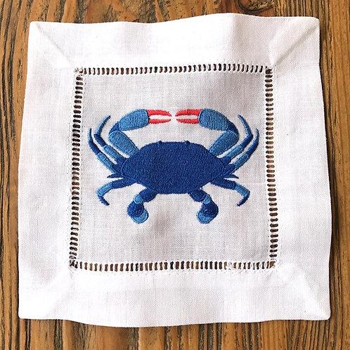Blue Crab Cocktail Napkins