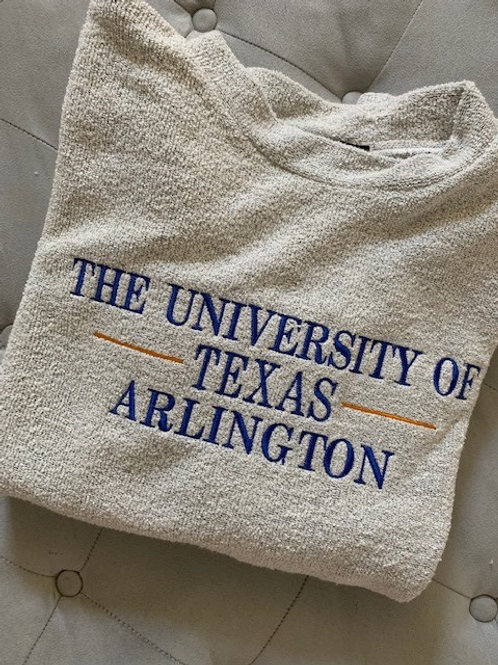 University of Texas - Arlington Woolly Threads Natural Pullover