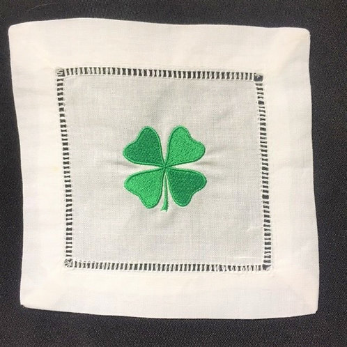Four Leaf Clover Cocktail Napkins